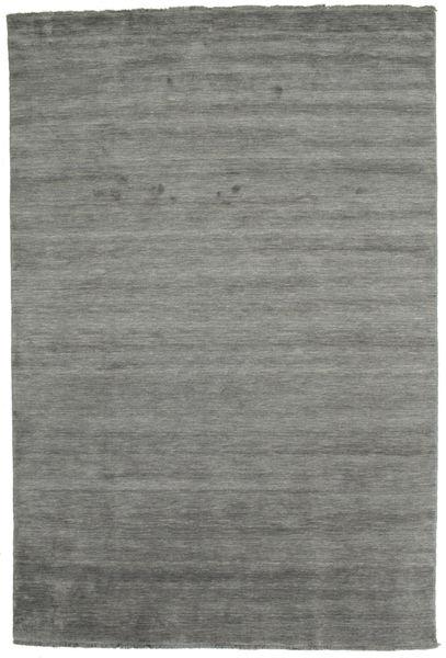 Handloom Fringes - Tummanharmaa Matto 200X300 Moderni Tummanharmaa (Villa, Intia)