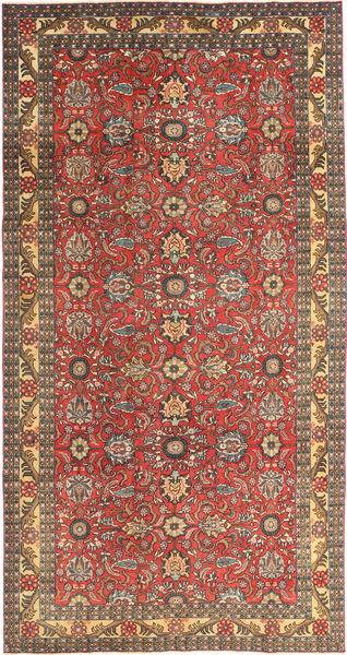 Tabriz Patina Matto 168X318 Itämainen Käsinsolmittu Tummanpunainen/Vaaleanruskea (Villa, Persia/Iran)