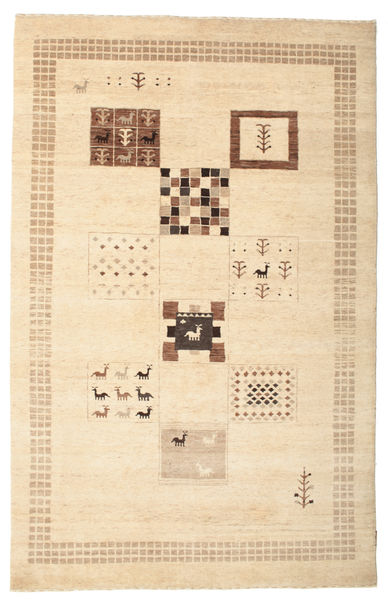 Gabbeh Loribaft Matto 150X231 Moderni Käsinsolmittu Beige/Keltainen (Villa, Intia)