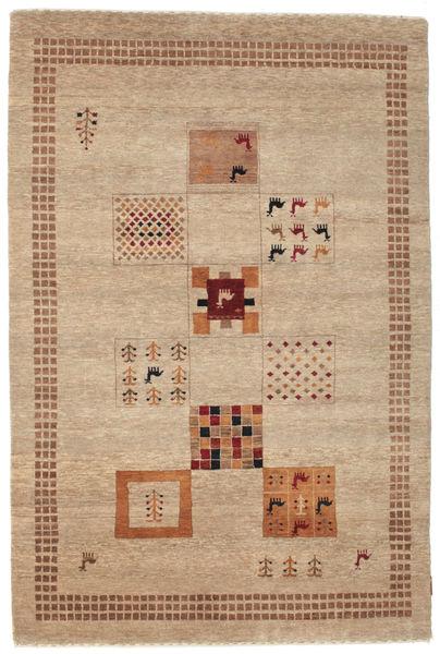 Gabbeh Loribaft Matto 150X225 Moderni Käsinsolmittu Tummanbeige/Ruskea (Villa, Intia)