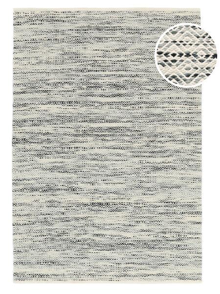 Hugo - Musta/Harmaa Matto 160X230 Moderni Käsinkudottu Vaaleanharmaa/Tummanbeige ( Intia)