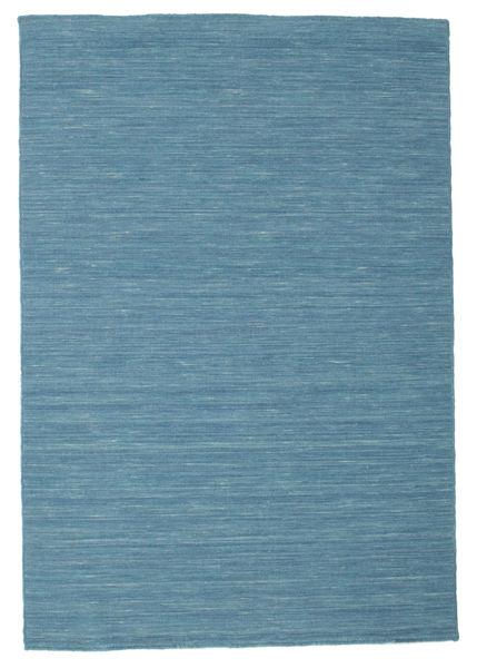 Kelim Loom - Sininen Matto 120X180 Moderni Käsinkudottu Siniturkoosi/Sininen (Villa, Intia)