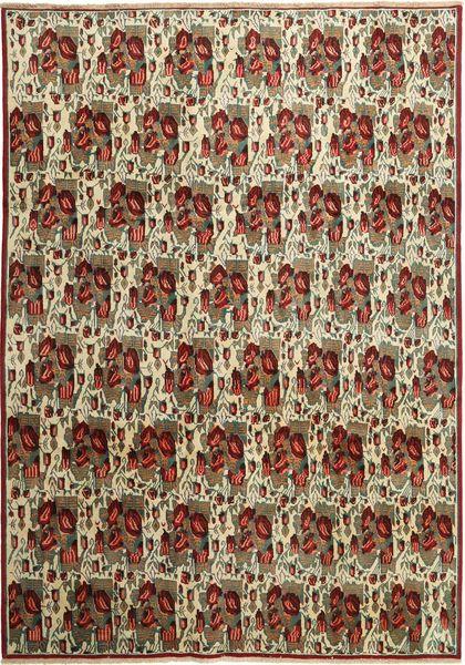 Afshar/Sirjan Matto 238X333 Itämainen Käsinsolmittu Tummanruskea/Vaaleanharmaa (Villa, Persia/Iran)