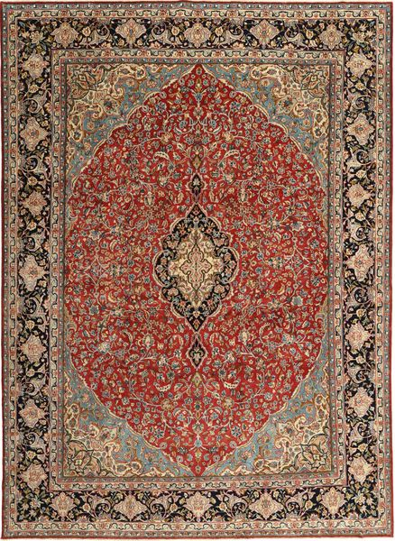 Kerman Patina Matto 254X352 Itämainen Käsinsolmittu Tummanruskea/Vaaleanruskea Isot (Villa, Persia/Iran)