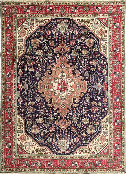 Tabriz Patina Matto 250X350 Itämainen Käsinsolmittu Tummanharmaa/Ruskea Isot (Villa, Persia/Iran)