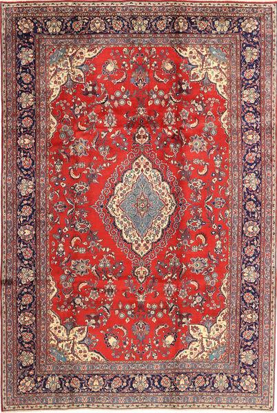 Hamadan Shahrbaf Matto 213X320 Itämainen Käsinsolmittu Ruoste/Tummanpunainen (Villa, Persia/Iran)