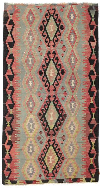 Kelim Semiantiikki Turkki Matto 155X288 Itämainen Käsinkudottu Ruoste/Vaaleanruskea (Villa, Turkki)