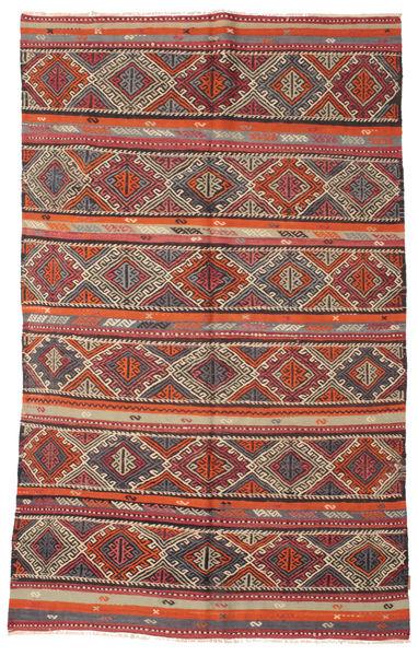 Kelim Semiantiikki Turkki Matto 166X271 Itämainen Käsinkudottu Tummanpunainen/Ruskea (Villa, Turkki)