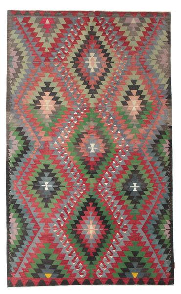 Kelim Semiantiikki Turkki Matto 176X293 Itämainen Käsinkudottu Musta/Tummanvihreä (Villa, Turkki)