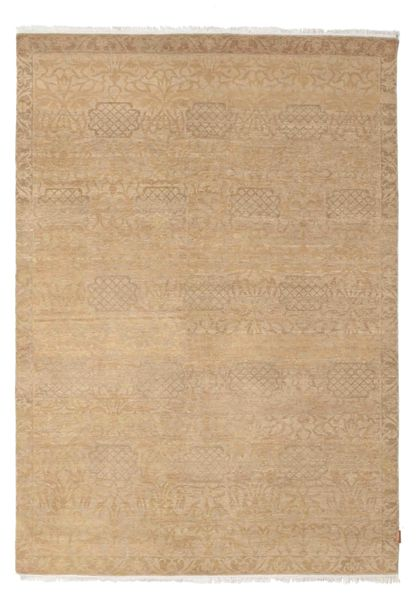 Himalaya Matto 187X265 Moderni Käsinsolmittu Tummanbeige/Vaaleanruskea (Villa, Intia)
