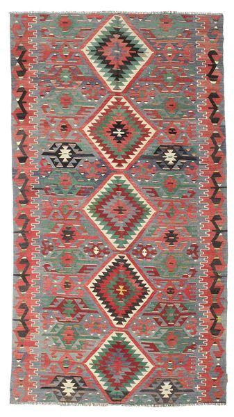 Kelim Semiantiikki Turkki Matto 160X286 Itämainen Käsinkudottu Ruskea/Tummanruskea (Villa, Turkki)