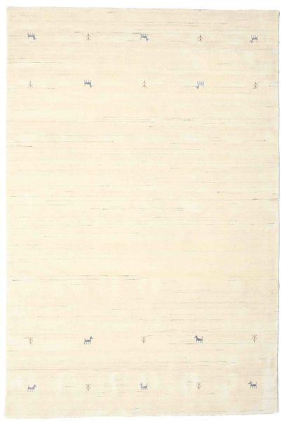 Gabbeh Loom Two Lines - Valkea Matto 190X290 Moderni Beige/Valkoinen/Creme (Villa, Intia)
