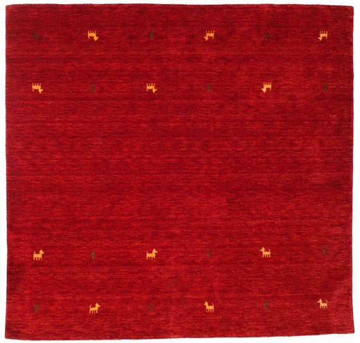 Gabbeh Loom Two Lines - Punainen Matto 200X200 Moderni Neliö Punainen/Tummanpunainen (Villa, Intia)