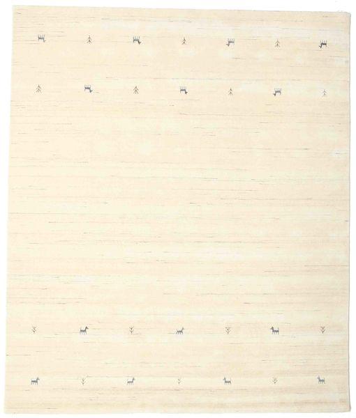 Gabbeh Loom Two Lines - Valkea Matto 240X290 Moderni Beige/Valkoinen/Creme (Villa, Intia)