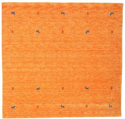 Gabbeh Loom Two Lines - Oranssi Matto 200X200 Moderni Neliö Oranssi (Villa, Intia)