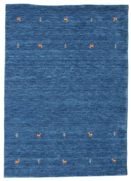 Gabbeh Loom Two Lines - Sininen Matto 140X200 Moderni Tummansininen/Sininen (Villa, Intia)