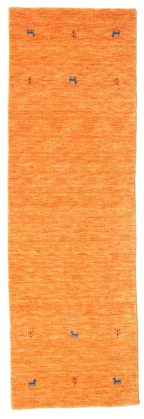 Gabbeh Loom Two Lines - Oranssi Matto 80X250 Moderni Käytävämatto Oranssi (Villa, Intia)