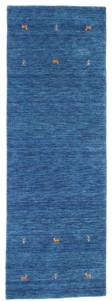 Gabbeh Loom Two Lines - Sininen Matto 80X250 Moderni Käytävämatto Tummansininen/Sininen (Villa, Intia)