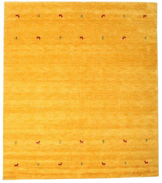 Gabbeh Loom Two Lines - Keltainen Matto 240X290 Moderni Keltainen/Oranssi (Villa, Intia)