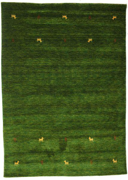 Gabbeh Loom Two Lines - Vihreä Matto 160X230 Moderni Tummanvihreä (Villa, Intia)