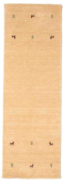 Gabbeh Loom Two Lines - Beige Matto 80X250 Moderni Käytävämatto Tummanbeige/Vaaleanruskea (Villa, Intia)