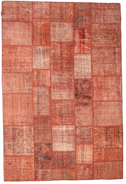 Patchwork Matto 202X300 Moderni Käsinsolmittu Punainen/Vaaleanpunainen/Tummanpunainen (Villa, Turkki)