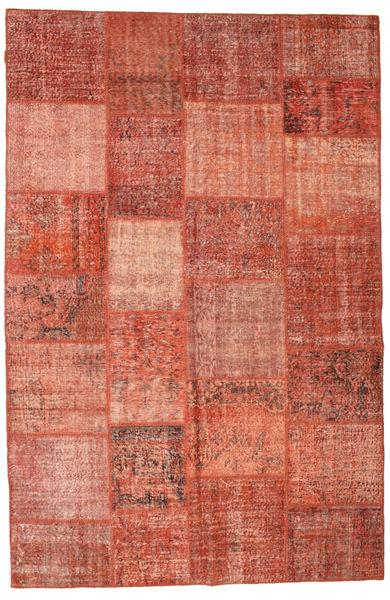 Patchwork Matto 197X300 Moderni Käsinsolmittu Punainen/Tummanpunainen (Villa, Turkki)