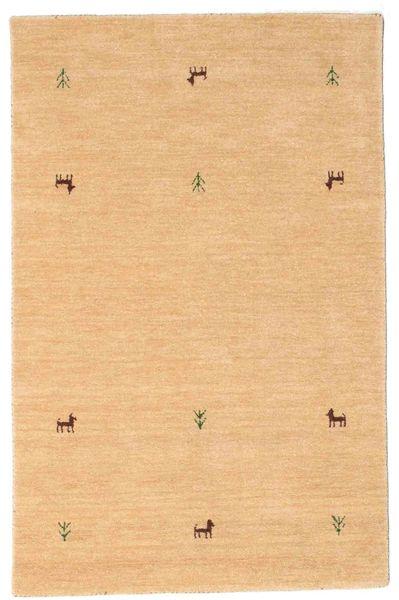 Gabbeh Loom Two Lines - Beige Matto 100X160 Moderni Tummanbeige/Vaaleanruskea (Villa, Intia)