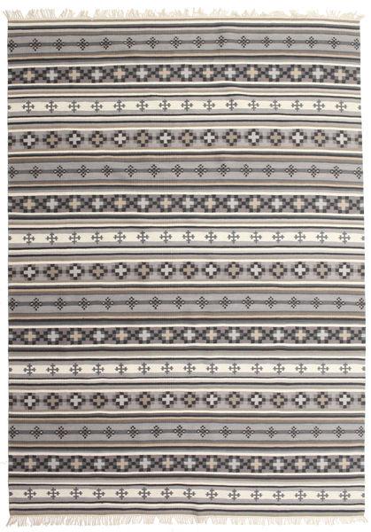 Kelim Cizre Matto 240X340 Moderni Käsinkudottu Vaaleanharmaa/Beige (Villa, Intia)