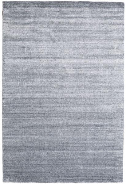 Bamboo Silkki Loom - Denim Sininen Matto 200X300 Moderni Vaaleanharmaa/Vaaleansininen ( Intia)
