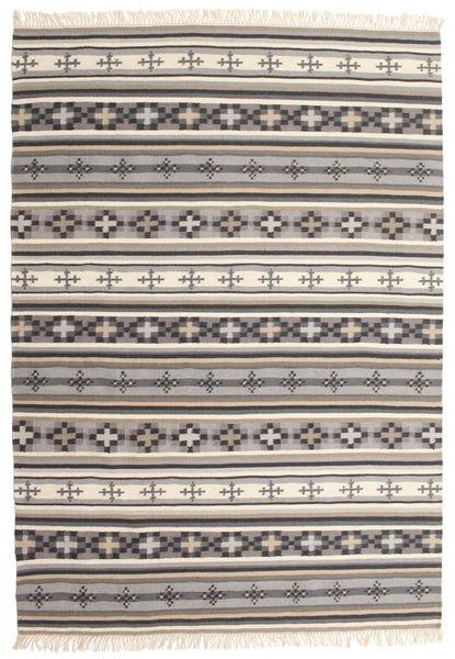 Kelim Cizre Matto 160X230 Moderni Käsinkudottu Vaaleanharmaa/Beige (Villa, Intia)