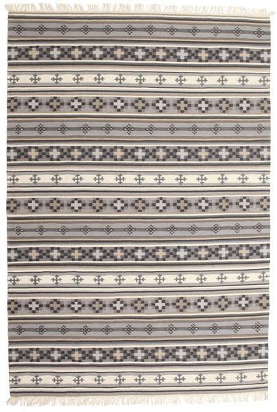 Kelim Cizre Matto 190X290 Moderni Käsinkudottu Vaaleanharmaa/Beige (Villa, Intia)