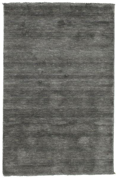 Handloom Fringes - Tummanharmaa Matto 120X180 Moderni Tummanharmaa (Villa, Intia)