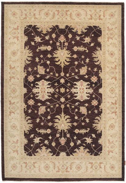 Ziegler Matto 169X249 Itämainen Käsinsolmittu Tummanruskea/Beige/Tummanbeige (Villa, Pakistan)
