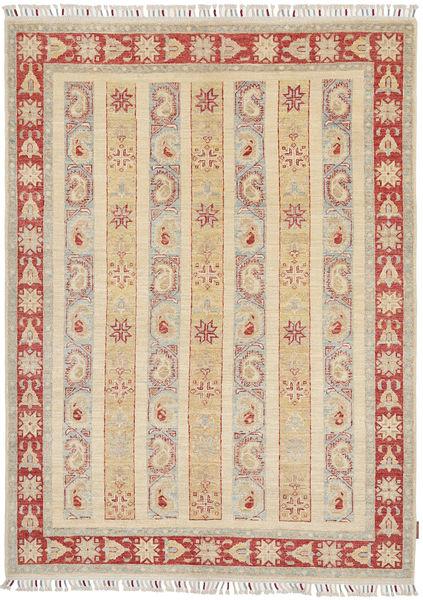 Ziegler Matto 149X205 Itämainen Käsinsolmittu Beige/Vaaleanharmaa (Villa, Pakistan)