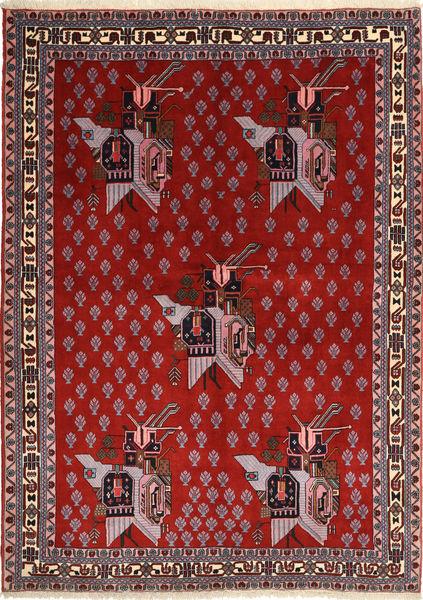 Afshar/Sirjan Matto 160X218 Itämainen Käsinsolmittu Tummanruskea/Ruoste/Tummanpunainen (Villa, Persia/Iran)