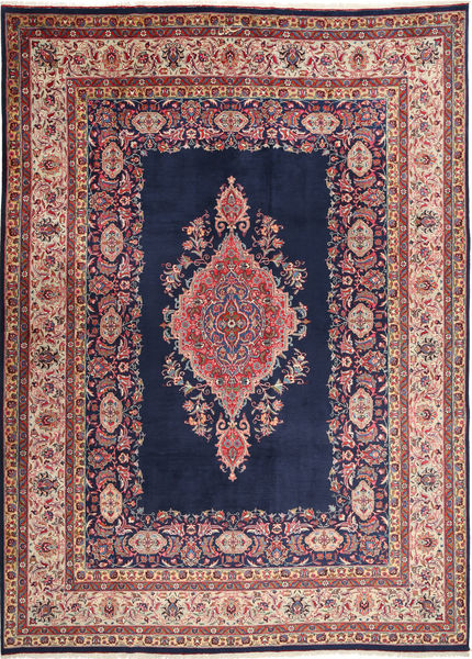 Mashad Matto 249X345 Itämainen Käsinsolmittu Tummanvioletti/Ruskea (Villa, Persia/Iran)
