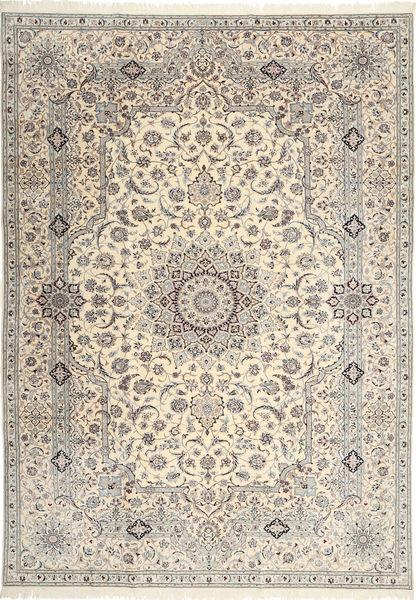 Nain 6La Habibian Matto 242X348 Itämainen Käsinsolmittu Vaaleanharmaa/Beige (Villa/Silkki, Persia/Iran)