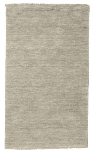 Handloom Fringes - Harmaa/Vaaleanvihreä Matto 100X160 Moderni Vaaleanharmaa (Villa, Intia)