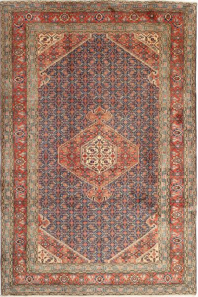 Ardebil Matto 197X300 Itämainen Käsinsolmittu Vaaleanruskea/Tummanpunainen (Villa, Persia/Iran)