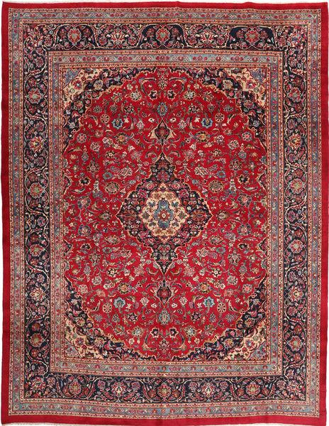 Keshan Matto 300X385 Itämainen Käsinsolmittu Tummanpunainen/Tummanruskea Isot (Villa, Persia/Iran)