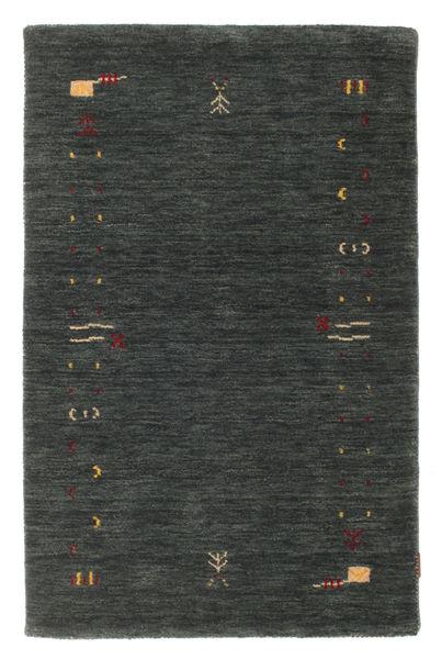 Gabbeh Loom Frame - Tummanharmaa/Vihreä Matto 100X160 Moderni Tummanvihreä (Villa, Intia)