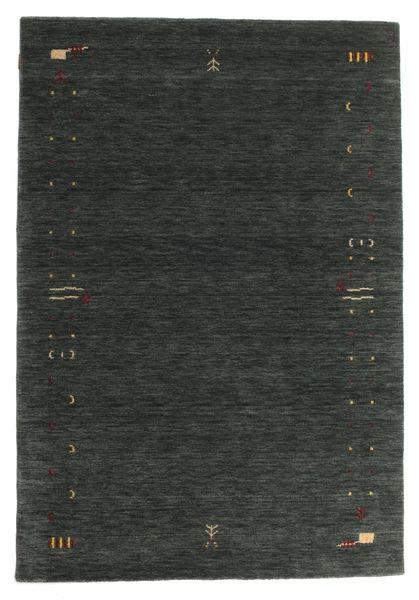 Gabbeh Loom Frame - Tummanharmaa/Vihreä Matto 160X230 Moderni Tummanvihreä (Villa, Intia)