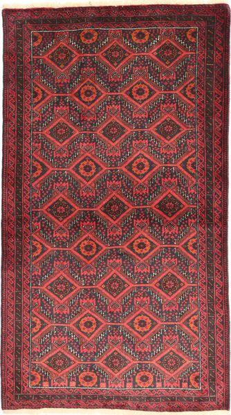 Beluch Matto 105X186 Itämainen Käsinsolmittu Tummanpunainen/Ruoste (Villa, Persia/Iran)