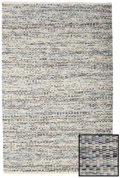 Pebbles - Harmaa/Sininen Mix Matto 160X230 Moderni Käsinkudottu Vaaleanharmaa/Tummanbeige ( Intia)