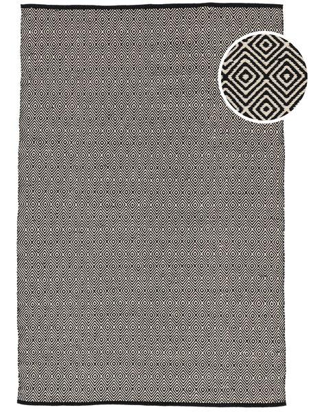 Diamond - Musta Matto 160X230 Moderni Käsinkudottu Vaaleanharmaa/Tummanharmaa (Puuvilla, Intia)