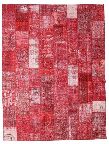 Patchwork Matto 301X400 Moderni Käsinsolmittu Punainen/Ruoste Isot (Villa, Turkki)