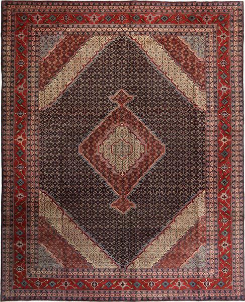 Ardebil Matto 300X376 Itämainen Käsinsolmittu Tummanruskea/Tummanpunainen Isot (Villa, Persia/Iran)
