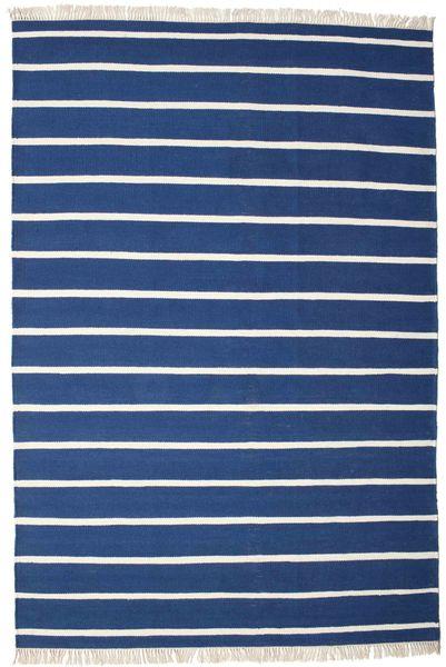 Dorri Stripe - Tummansininen Matto 200X300 Moderni Käsinkudottu Tummansininen/Sininen (Villa, Intia)