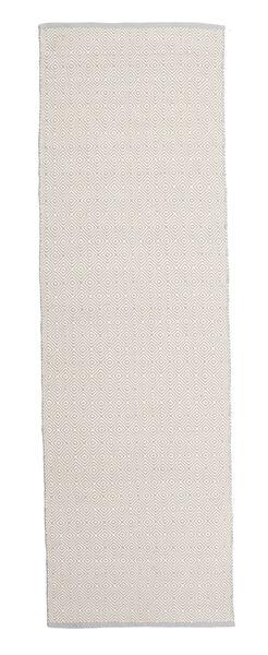 Diamond - Musta/Valkoinen Matto 80X250 Moderni Käsinkudottu Käytävämatto Tummanharmaa/Vaaleanharmaa (Puuvilla, Intia)